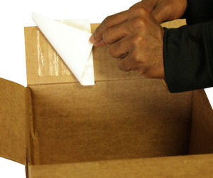 Adhesive Squares™ Provide Secure Shipping Solution