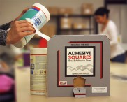 Adhesive Squares™ Meet Contract Packaging Needs